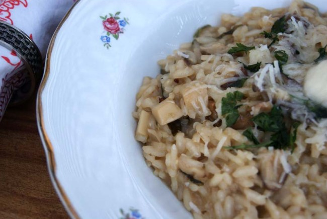 mixed mushroom risotto