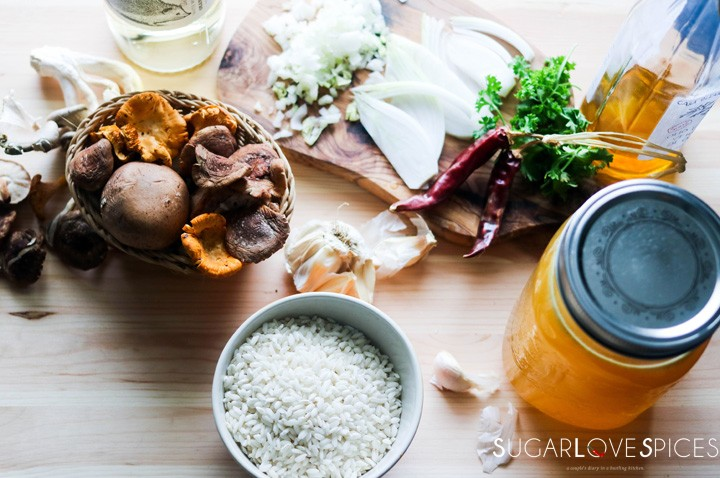 Mixed Mushroom Risotto-ingredients