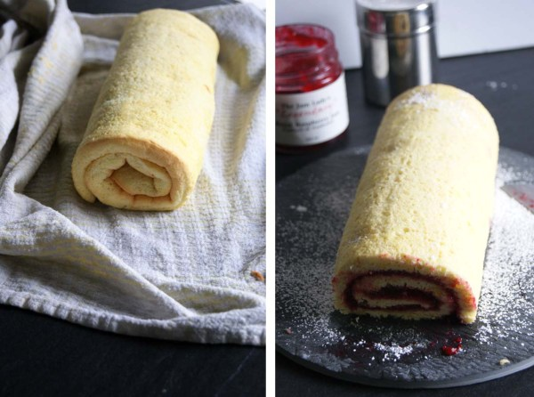 Raspberry jam swss roll
