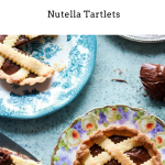 crostatine alla nutella in different plates, one cut