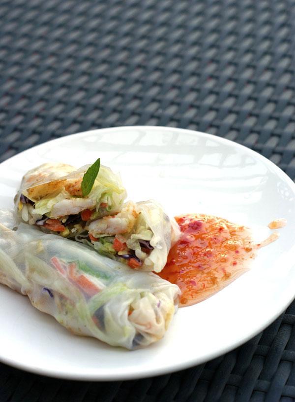 sensational salad rolls