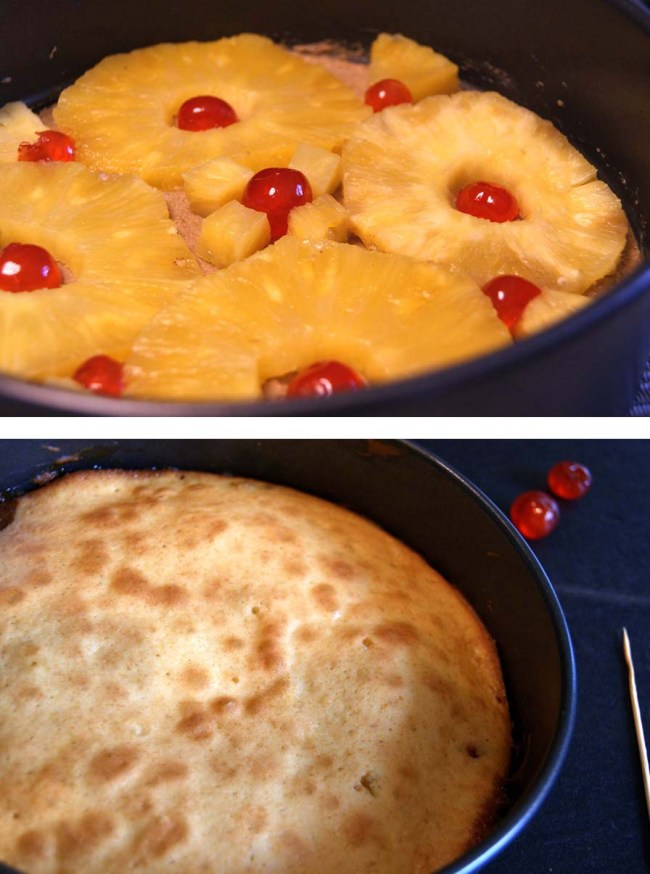 Pineapple upside-down cake-prep