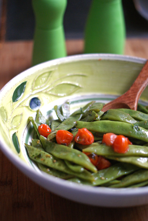 toasted garlic romano beans