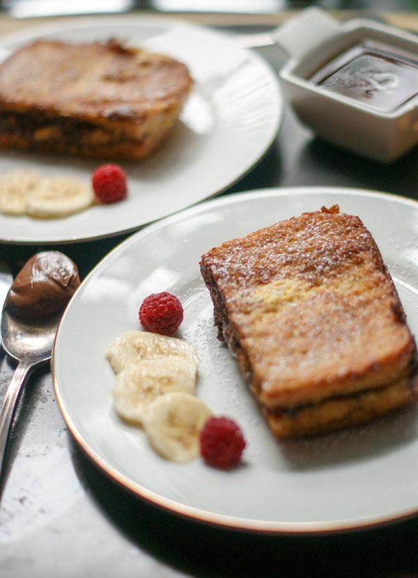 nutella banana stuffed french toast
