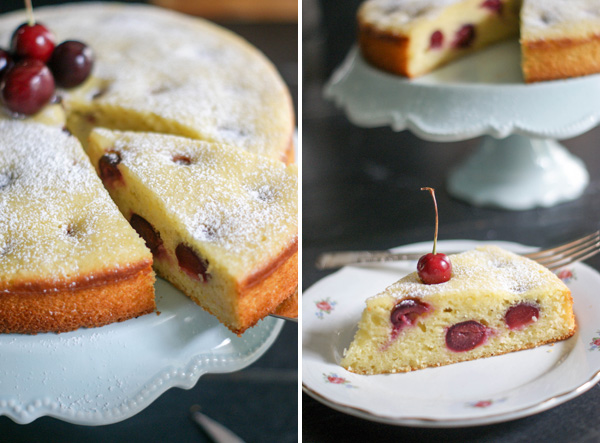 cherry, almond and olive oil cake4