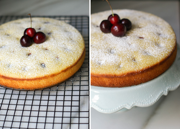 cherry, almond and olive oil cake6