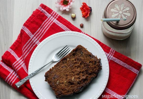 Kamut flour, Chocolate, Zucchini Loaf