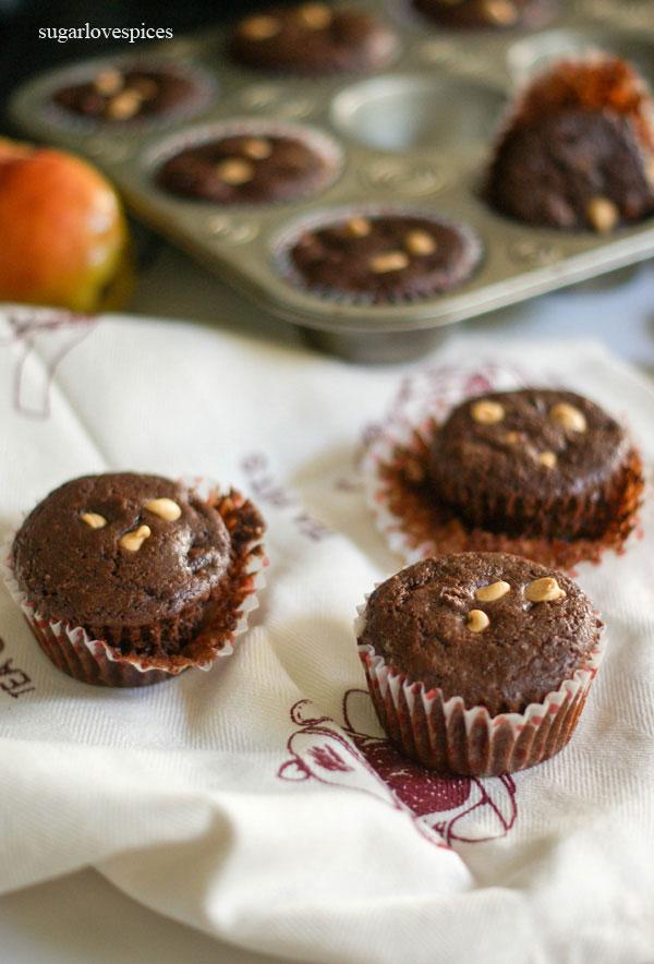 Chocolate Pear Muffins