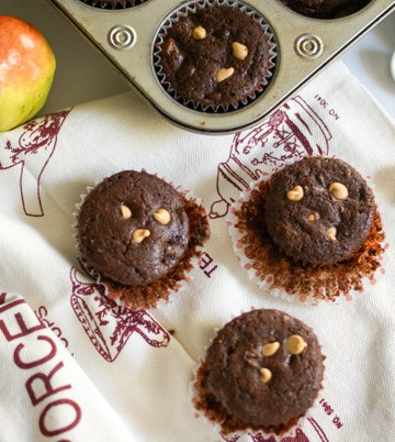 Chocolate Pear Muffins