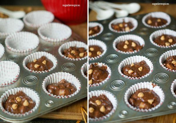 pear chocolate muffins