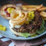 Curried lentil burger