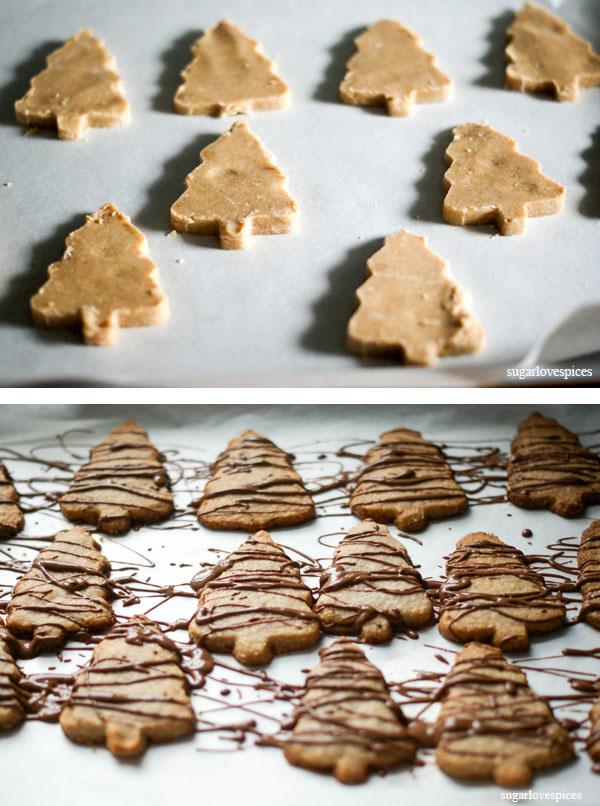 Eggnog Spiced Shortbread Christmas Cookies