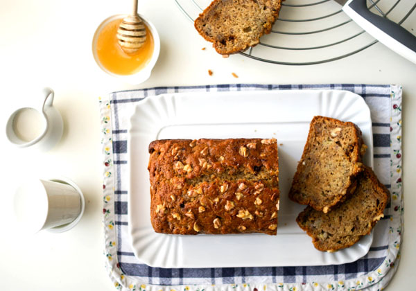 Spelt Flour Banana Bread With Walnuts And Honey