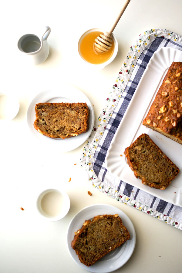 Spelt and Honey Banana Bread with Walnuts