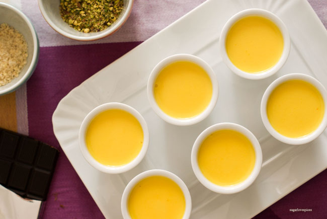Saffron Pannacotta