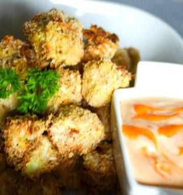 Panko and Asiago Crusted Popcorn Cauliflower