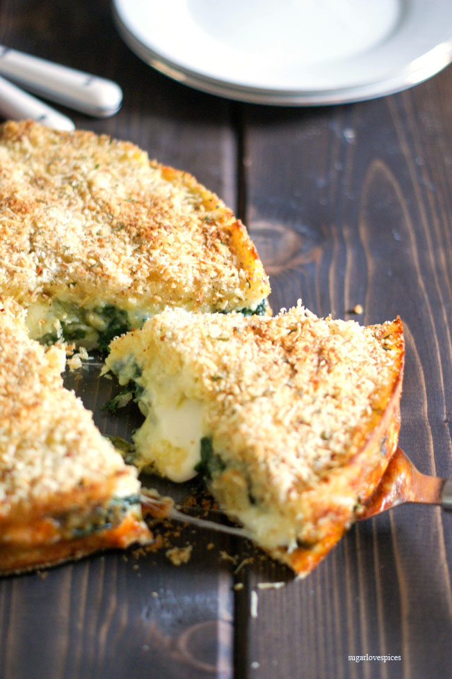 Potato and Spinach Gateau
