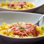 Spaghetti Squash in Tomato Sauce