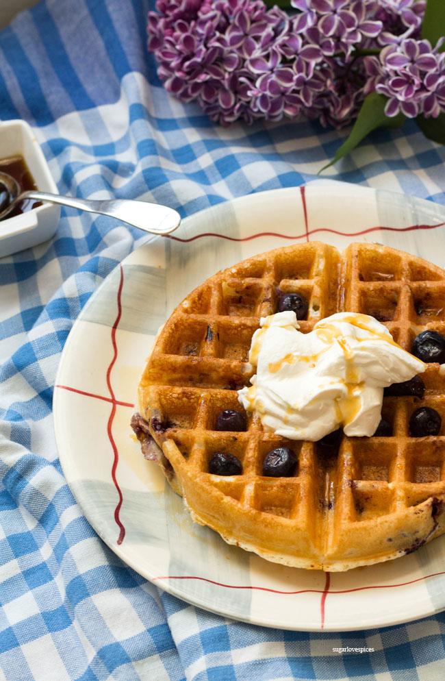 Lemon Blueberry Buttermilk Waffles