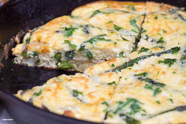 Asparagus Potato Skillet Frittata