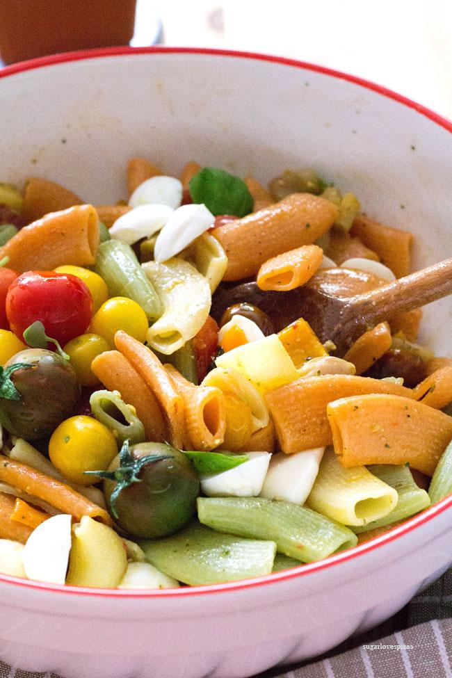 Roasted Veggie Bocconcini Pasta Salad