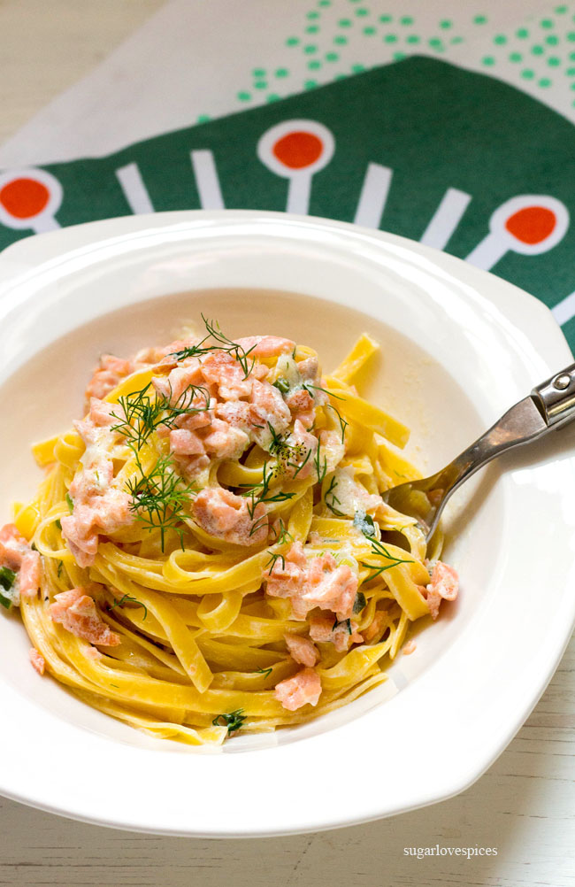 Smoked Salmon Dill Fettuccine