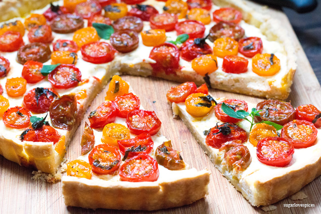 Cherry Tomato Ricotta Tart