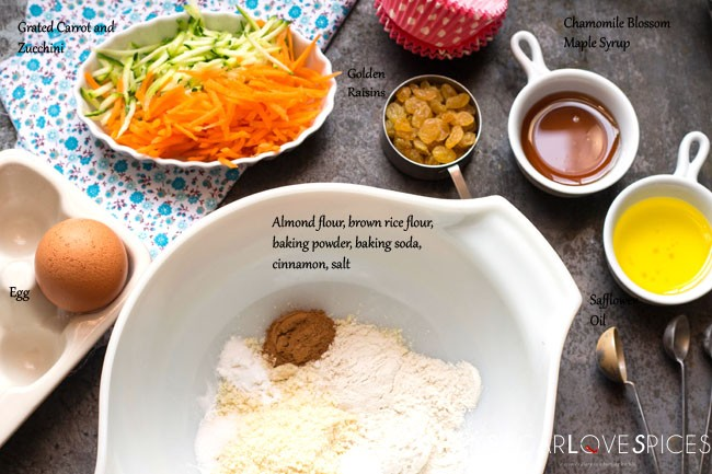 Giada's Carrot zucchini mini muffins