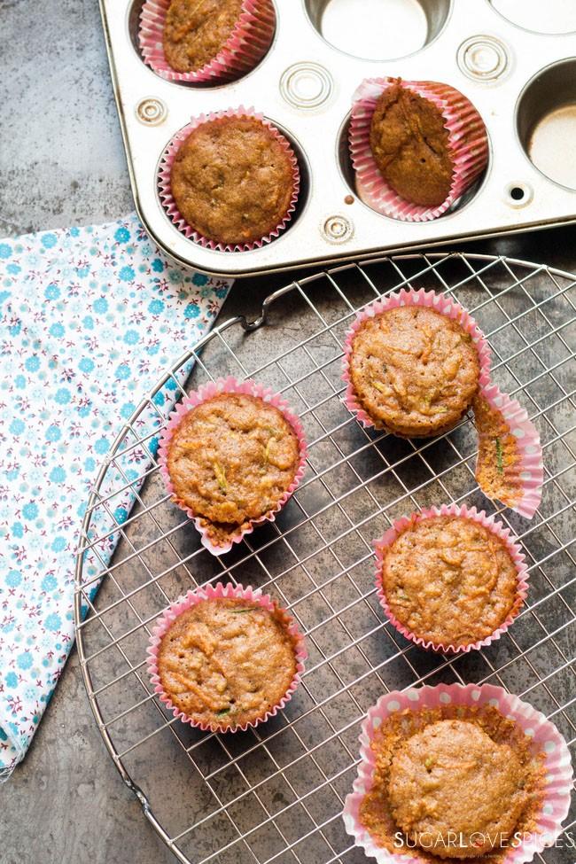Giada's Carrot Zucchini Mini Muffins [G.F.]