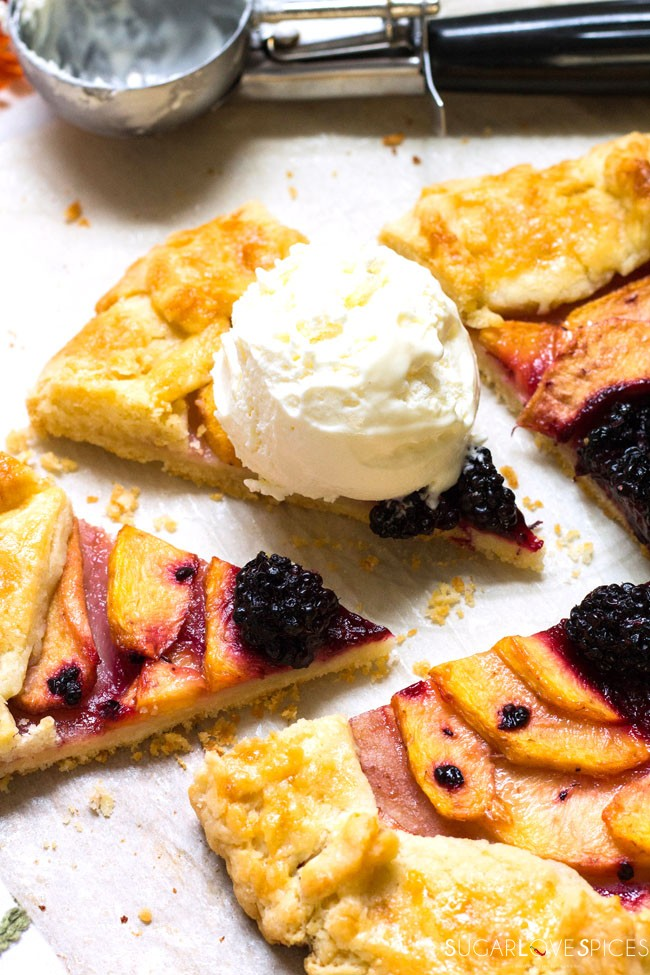 (End of Summer) Peach Blackberry Galette