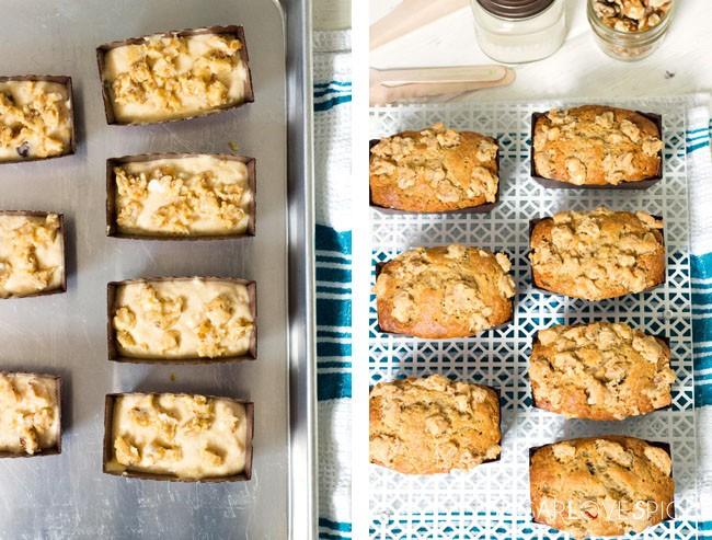 Maple Walnut Mini Banana Bread