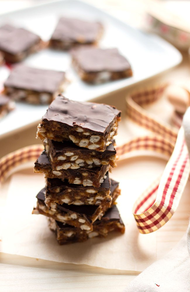 Puffed Rice Date Squares