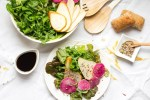 Arugula Pear and Watermelon Radish Salad
