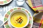 Broccoli, sweet potato cheesy soup