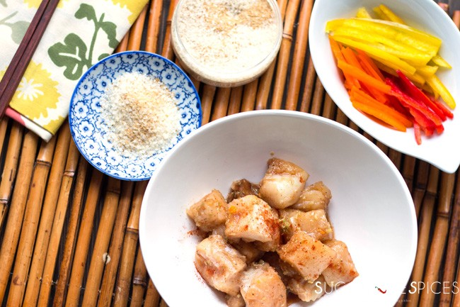 Crispy Halibut Orange Ginger Bites