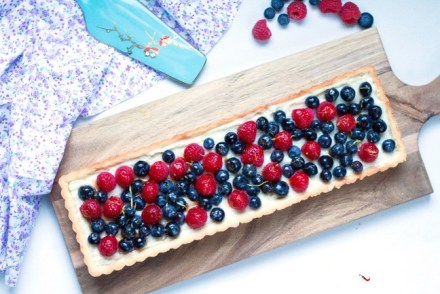 Anniversary Berry Tart with Vanilla bean Pastry Cream
