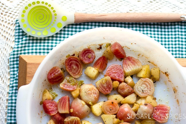 Roasted Beets and Apples