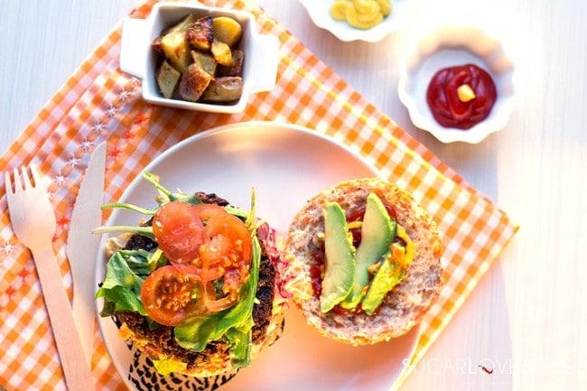 Wild Rice, Lentil, Mushroom Veggie Burger