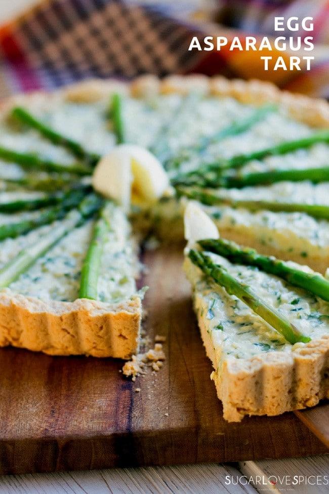 egg asparagus tart