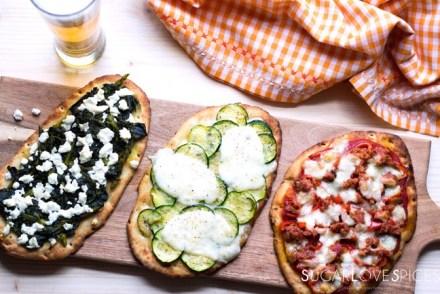 Naan Pizza three ways