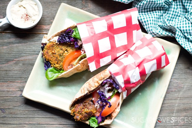 Spicy Falafel Gyros, Greek Style
