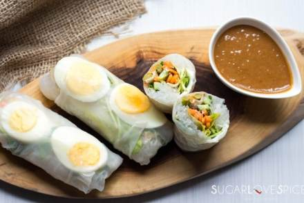 Boiled Egg Endive Salad Rolls
