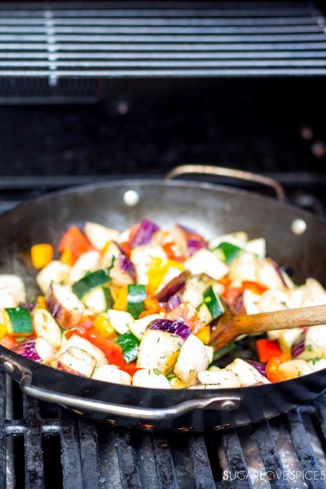 Grilled Vegetable Barley Medley