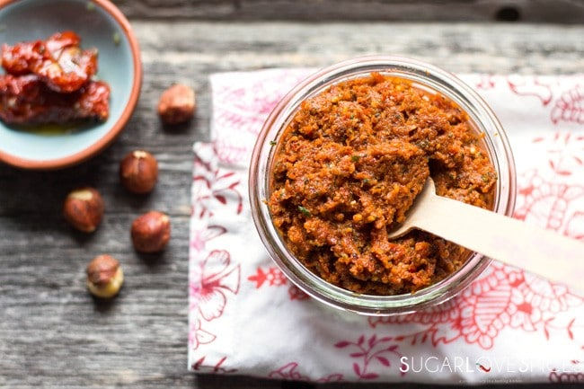 Sun-Dried Tomato, Hazelnut Pesto