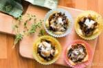Mushroom Asiago & Thyme Bread Cups