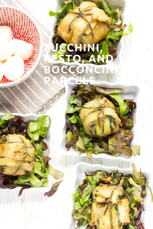 ZUCCHINI PESTO AND BOCCONCINI PARCELS