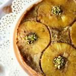 Pineapple apple upside down croissant cake