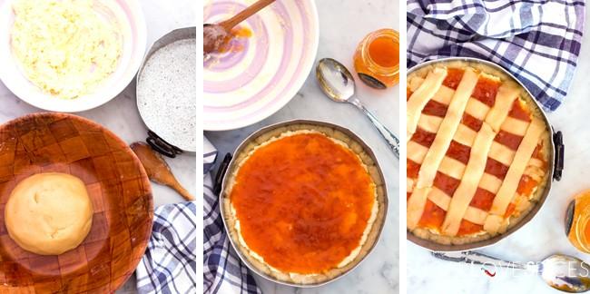 Ricotta & Apricot Jam Crostata