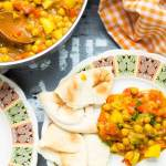Yellow curry coconut chickpea stew