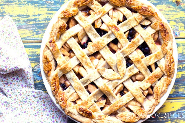 Apple Saskatoon Lattice Pie
